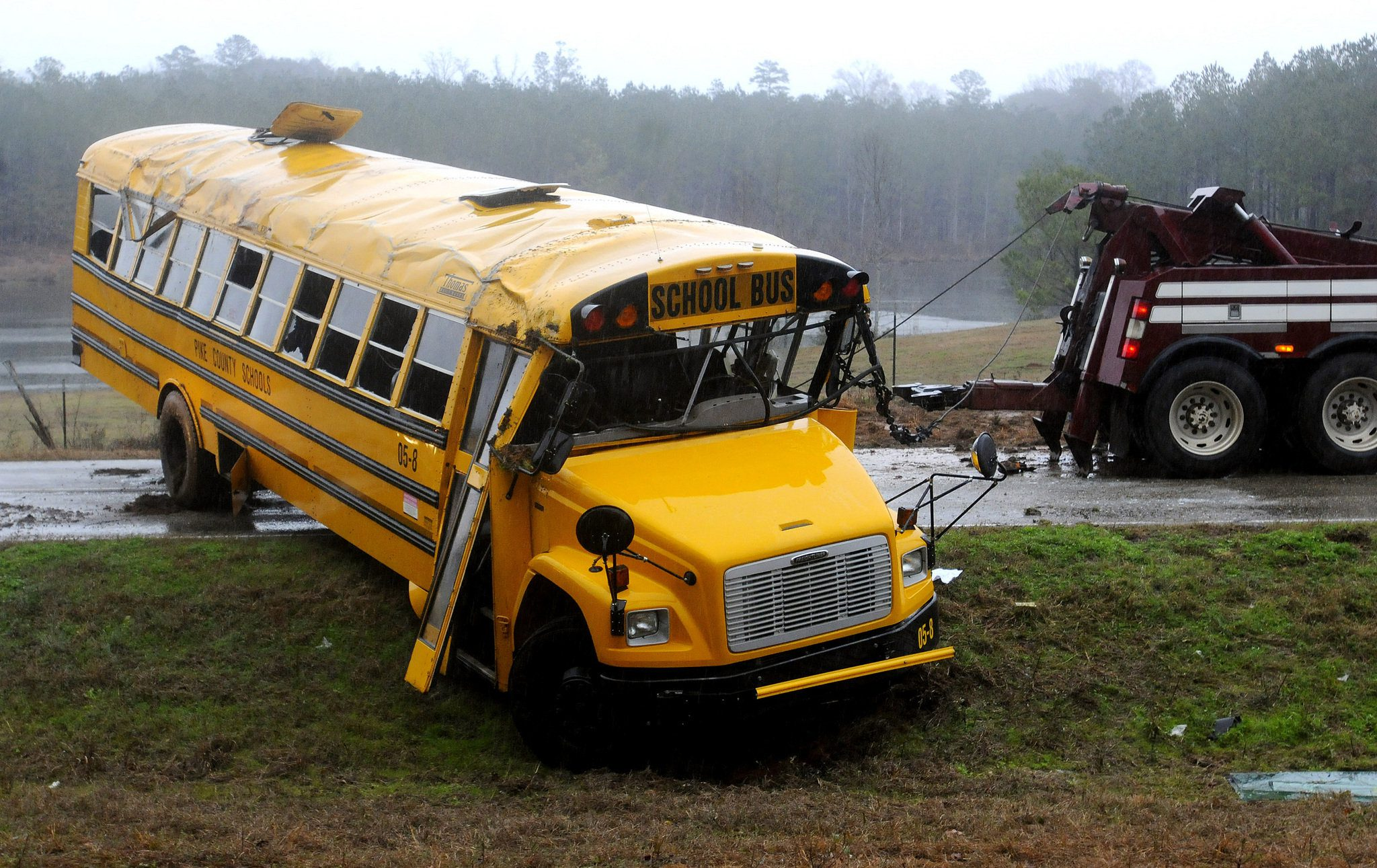 1 crashed bus