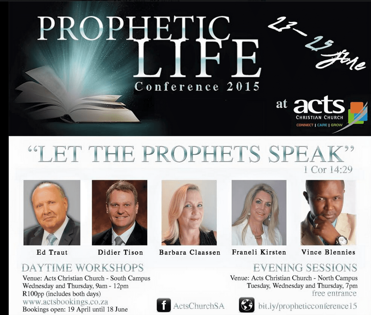 2015-08-01 Prophets of Acts Christian Church