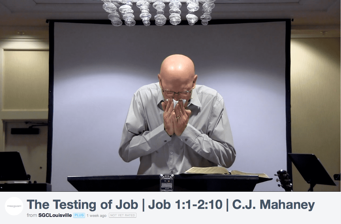 2015-10-06 Mahaney crying while reading Job 1