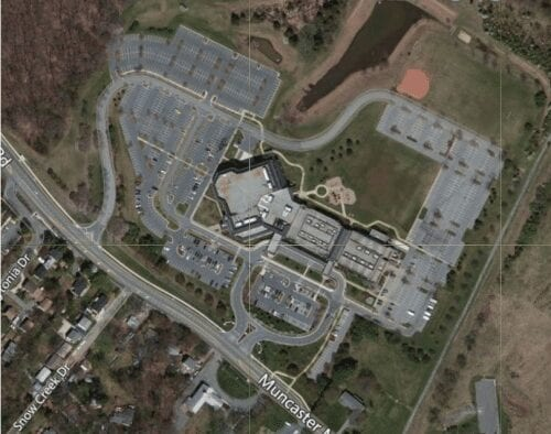 Ariel view oF Covenant Life Church