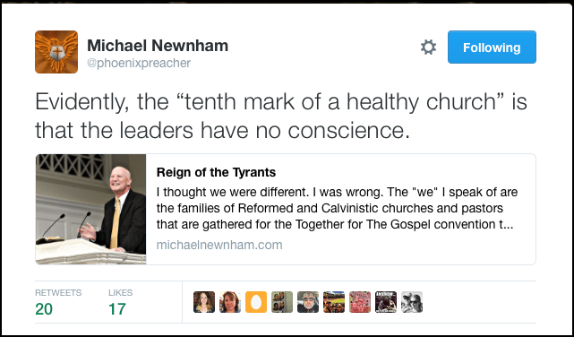 2016-05-12 10th Mark of a Healthy Church is no conscience