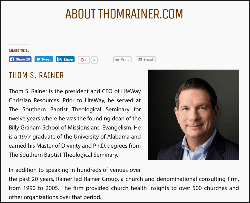 2016-09-08 about Thom Rainer