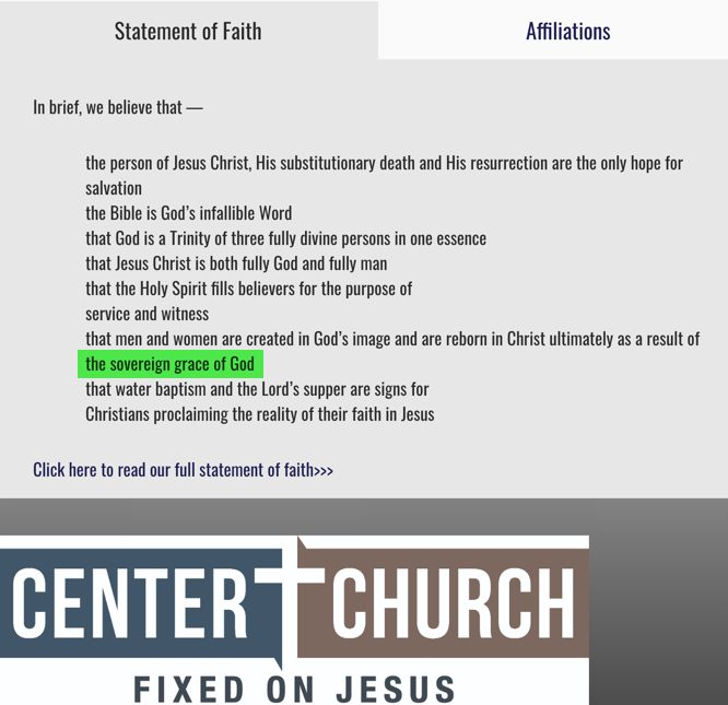 Reference to Sovereign Grace